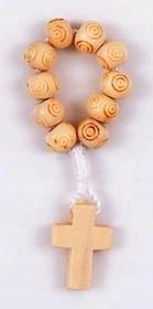 Dziesiątka drewniana różaniec na palec II gat