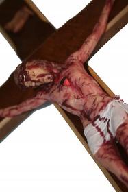 39cm PASYJNY KRZYŻ Serca Jezusowego Końca Czasu