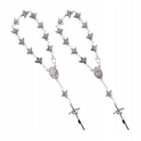 Dziesiątka różańca Duch św zapinana metalowa