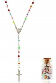 MINI Różaniec z cyrkoniami w butelce św. Benedykt