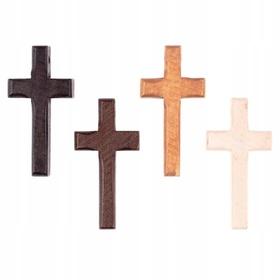 Krzyżyk drewniany do różańca 5cm 4 kolory Jezus
