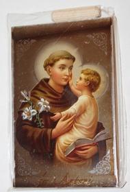 Metalizowana ikona obraz św. Antoni obrazek 10cm