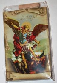 Złocona ikona obraz św. Michał Archanioł obrazek