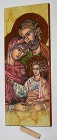Złocona ikona obraz św. Rodzina Józef Maryja Jezus