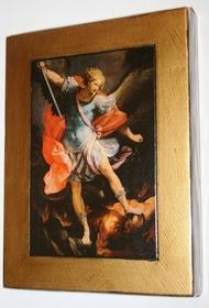 Złocona ikona obraz na ścianę św. Michał Archanioł
