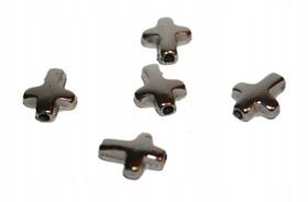 GRUBY łącznik bransoletki krzyżyk przewlekany LUX