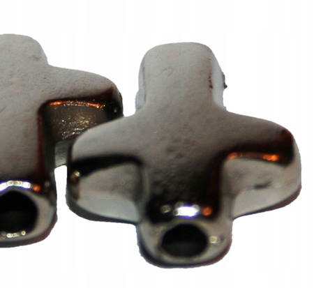 GRUBY łącznik bransoletki krzyżyk przewlekany LUX (2)