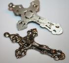 Krzyż Krzyżyk do różańca duży zdobiony wycinany (2)