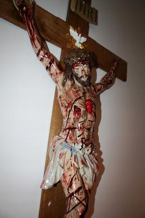 160cm PASYJNY KRZYŻ Serca Jezusowego Końca Czasu (7)