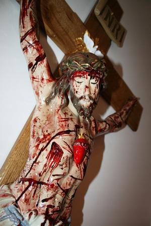 160cm PASYJNY KRZYŻ Serca Jezusowego Końca Czasu (8)