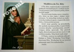 Św. RITA z Cascia obrazek + modlitwa do św. Rity