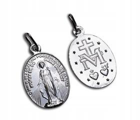 Średni 2cm SREBRNY Cudowny Medalik srebro 925