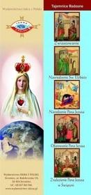 Zestaw 4 zakładek wszystkie Tajemnice Różańca Św.
