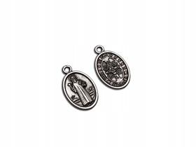 Medalik Św. Benedykta starodawny owalny z PAX