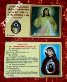 Jezus Miłosierny i św. Faustyna obrazek + medalik