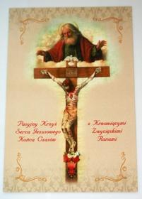 Obrazek krzyż pasyjny serca Jezusowego końca czasu