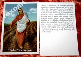 Matka Boża Siewna modlitwa + obrazek unikat
