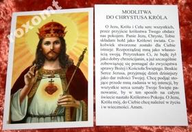 Jezus Chrystus Król + modlitwa obrazek święty