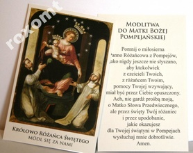 Obrazek Matka Boża Pompejańska Różańcowa modlitwa