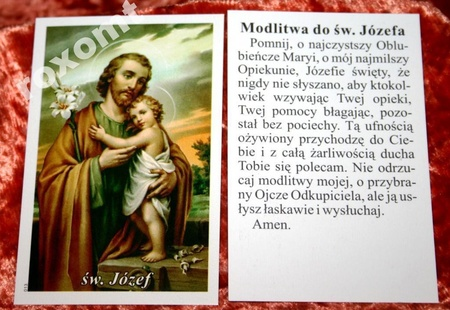 Św. Józef dzieciątko Jezus modlitwa do św. Józefa (1)