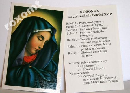 Obrazek Koronka 7 boleści NMP Matki Bożej Bolesnej (1)