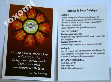 Obrazek Duch Św. charyzmaty dary modlitwa zesłanie (1)