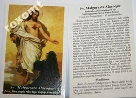 Obrazek Św. Małgorzata Alacoque Jezus Serce Jezusa