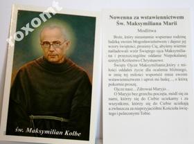 Obrazek Św. Maksymilian Maria Kolbe + nowenna