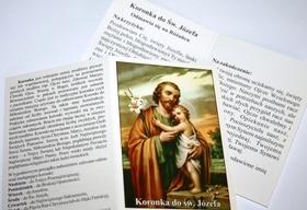 Koronka do Św. JÓZEFA różaniec SKŁADANKA obrazek