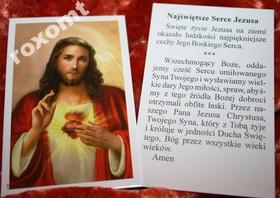 Najświętsze Serce Jezusa modlitwa obrazek Cudowny