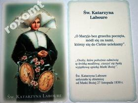 Św. Katarzyna Laboure i cudowny medalik obrazek br
