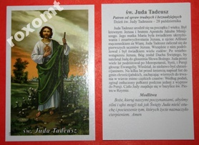 Św. Juda Tadeusz apostoł obrazek 2str. + modlitwa