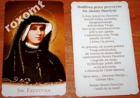 Obrazek Św. s. Faustyna Kowalska + modlitwa brokat