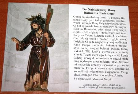 Modlitwa do Najświętszej Rany Ramienia Pańskiego (1)