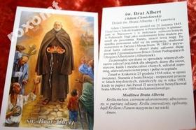 Św. Brat Albert modlitwa obrazek Adam Chmielowski