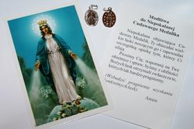 Mały SREBRNY Cudowny Medalik objawienia srebro 925