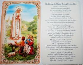 Matka Boża Fatimska Fatima obrazek + modlitwa
