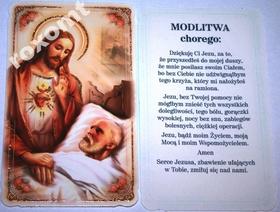 Jezus i chory MODLITWA CHOREGO obrazek brokatowany