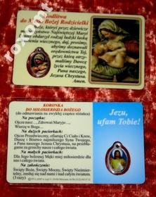 Matka Boża Rodzicielka laminow. obrazek + medalik