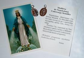 SREBRNY Cudowny Medalik MARYJA NIEPOKALANA 2cm 2g