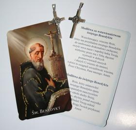 SREBRNY duży Krzyż krzyżyk medalik św. Benedykta !