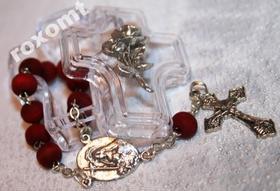 Św. Rita Pachnąca różami DZIESIĄTKA RÓŻANIEC krzyż