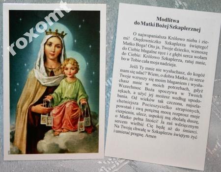 Matka Boża Szkaplerzna obrazek Szkaplerz Maryja (1)