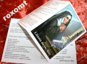 Litania + obrazek składanka Św. RITA z Cascia Rity