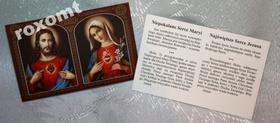 Dwa Niepokalane Serca Maryi i Jezusa obrazek nowy