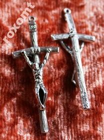 4,2cm Krzyżyk papieski krzyż do różańca jakość MED