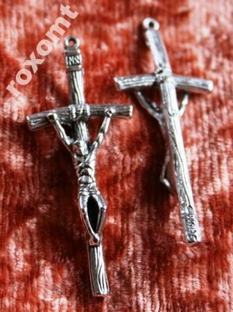 5cm Krzyżyk papieski krzyż do różańca super jakość (1)