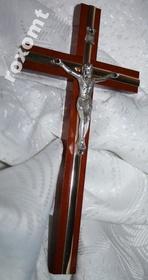 20cm Krzyż drewniany na ścianę złota listwa SUPER