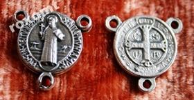 Łącznik różańca medalik krzyż Św. Benedykta 2cm