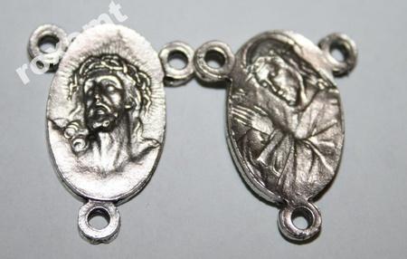 Łącznik do różańca Jezus cierpiący Ecce Homo Krzyż (1)